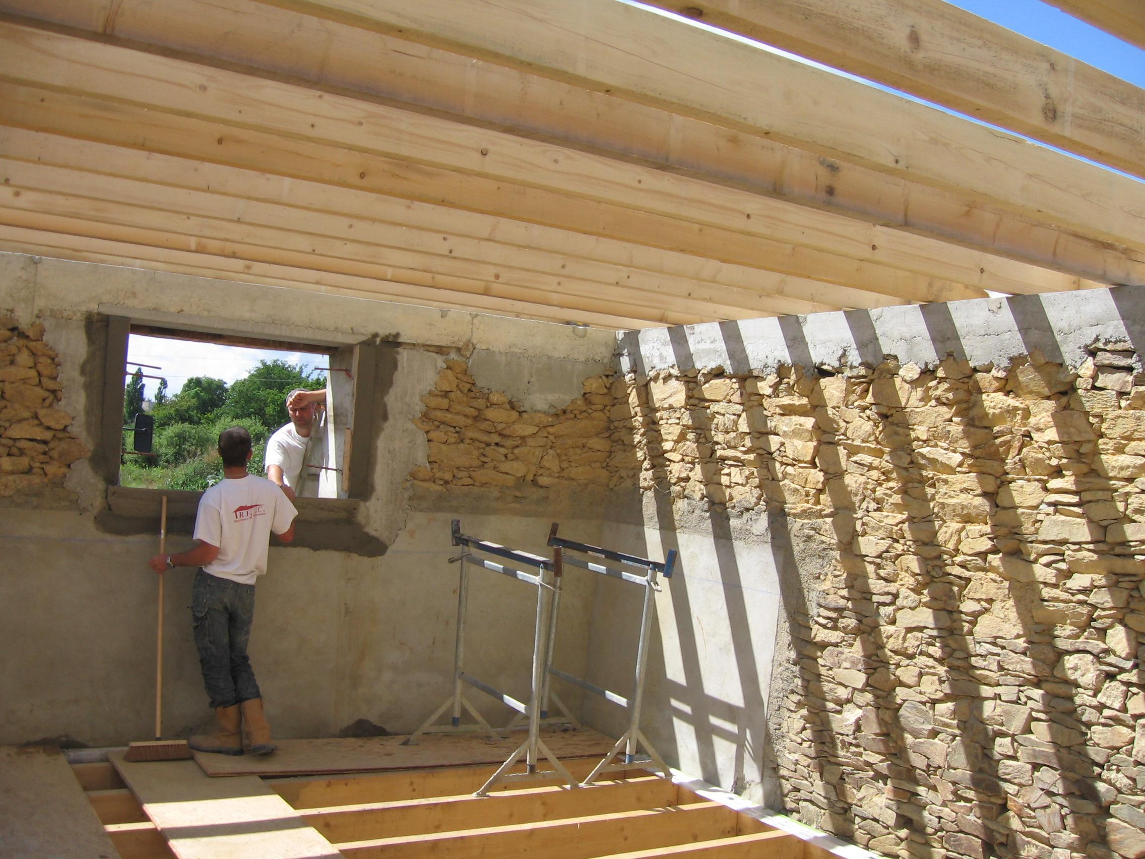 La quenaudais maison bbc 6 le plancher for Construction plancher bois etage